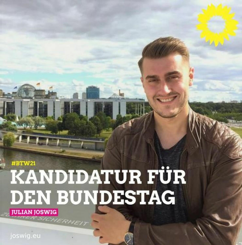 Grüner Kreisvorstand unterstützt Kandidatur von Julian Joswig (OV Mittelrhein)